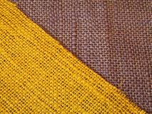 Yellow & Purple Colourful textile  in diagonal Royalty Free Stock Photos