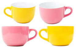 Yellow and purple cups Stock Image