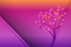 Yellow and purple dot background Stock Photography