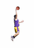 Yellow and purple dunk Stock Images