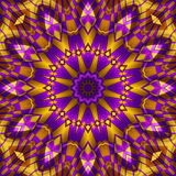 Yellow purple kaleidoscope. For moments of relaxation Stock Images
