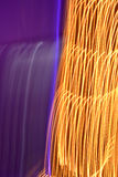 Yellow and purple light painting. Painting with light is always surprising and fun, this are christmas lights Royalty Free Stock Photography