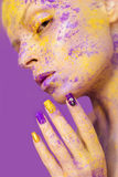 Yellow purple shadow. Royalty Free Stock Image