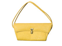 Yellow Purse. Isolated on white background royalty free stock images