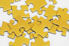 Yellow puzzle Stock Photography