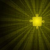 Yellow puzzle shine Stock Images