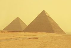 Yellow pyramids Royalty Free Stock Images