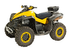 Yellow quadbike Royalty Free Stock Photography