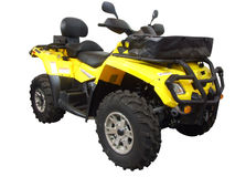 Yellow quadbike Stock Image