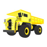 Yellow quarry truck. Yellow non-gradiented quarry truck, vector illustration Royalty Free Stock Photography