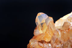 Yellow Quartz. Extreme close-up of yellow quartz Stock Photos