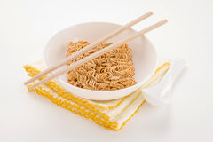 Yellow quick meal set Royalty Free Stock Photography