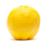 Yellow quince fruit isolated on white. Background Royalty Free Stock Photo