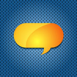 Yellow quote speech bubble Royalty Free Stock Images