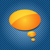 Yellow quote speech bubble Stock Photography