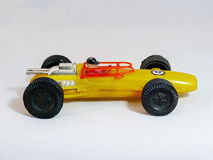 Yellow race car toy Stock Photos