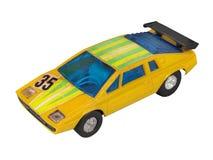 Yellow race car toy / Racing yellow Royalty Free Stock Image
