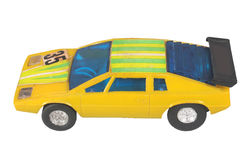 Yellow race car toy / Racing yellow Stock Images