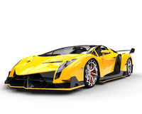 Yellow Race Supercar Stock Images