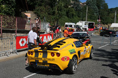 Yellow racing car Royalty Free Stock Photos