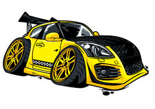 Yellow racing car Royalty Free Stock Photography