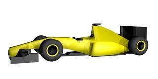 Yellow racing car Stock Photo