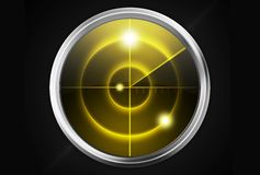 Yellow Radar on Black Stock Images