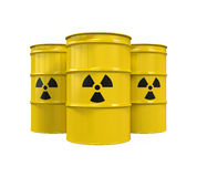 Yellow Radioactive Barrels Stock Image