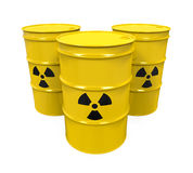 Yellow Radioactive Barrels Royalty Free Stock Photography