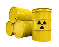 Yellow Radioactive Barrels Stock Photography