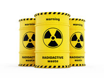 Yellow Radioactive Barrels Royalty Free Stock Image
