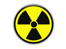 Yellow radioactive sign Stock Images