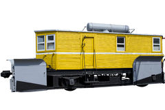 Yellow rail car Royalty Free Stock Images