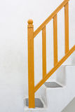 Yellow Railing and Stair Royalty Free Stock Images