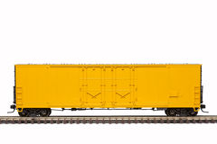Yellow Railroad Box Car Royalty Free Stock Photo
