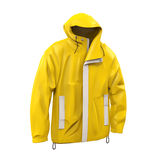 Yellow Rain Coat. Isolated on white background. 3D render Stock Photos