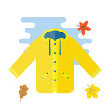 Yellow raincoat waterproof clothes Royalty Free Stock Photography