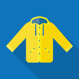 Yellow raincoat waterproof clothes Stock Photos