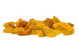 Yellow raisins isolated Royalty Free Stock Photos