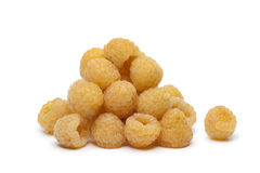 Yellow raspberries Royalty Free Stock Photo