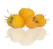 Yellow raspberries Royalty Free Stock Photography