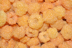 Yellow raspberries background Stock Photo