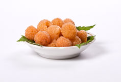Yellow raspberry. On white backgrond Stock Images
