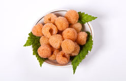 Yellow raspberry. On white backgrond Royalty Free Stock Images