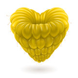 Yellow raspberry heart. Stock Image