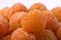 Yellow raspberry (macro) Stock Photos