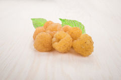 Yellow raspberry Royalty Free Stock Images