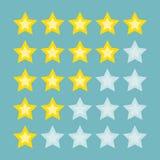 Yellow rating stars. stock illustration