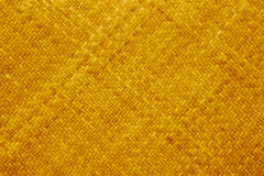 Yellow rattan texture Royalty Free Stock Image