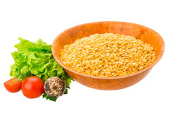 Yellow raw Lentils Royalty Free Stock Photography